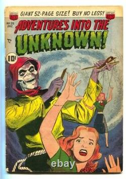 ADVENTURES INTO THE UNKNOWN #26-comic book WEREWOLF STORY-PRE-CODE HORROR vg