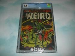 Blue Bolt Weird Tales #114 CGC 3.5 with OW pages 1952! Pre code Horror LB Cole