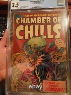Chamber of Chills #23 CGC 2.5 Classic Lee Elias Precode Horror Zombie Cover