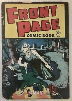 FRONT PAGE Comic Book #1 PRE-CODE HORROR 1st Man in Black SCARCE! GD+
