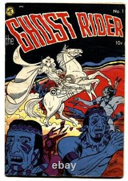 GHOST RIDER #1 1950-MAGAZINE ENTERPRISES-PRE-CODE HORROR-First issue-DICK AYRES