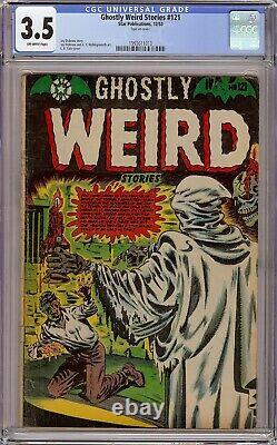 Ghostly Weird Stories #121 CGC 3.5 Amazing LB Cole Cover withskull Pre Code Horror