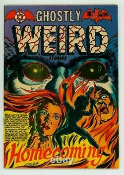 Ghostly Weird Stories #124 Fn 6.0 Lb Cole Cover Kamen Pre-code Horror Comic 1954