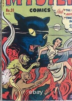 Golden Age BLACK CAT MYSTERY #31 VF- 7.5 Pre-Code Horror Great CAT cover
