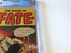 Hand Of Fate 18 Cgc 5.5 Pre Code Horror Prism Rainbow Hand Cover Ace Comics