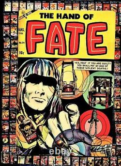 Hand of Fate 24 Golden Age comic electric Chair, Guiotine c ACE Pre Code Horror