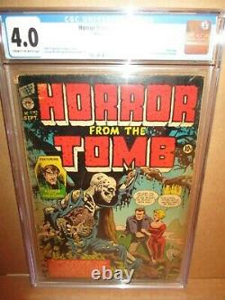 Horror From The Tomb 1 CGC 4.0 RARE PRE-CODE ZOMBIE ONE-SHOT 1954 Premier Comics