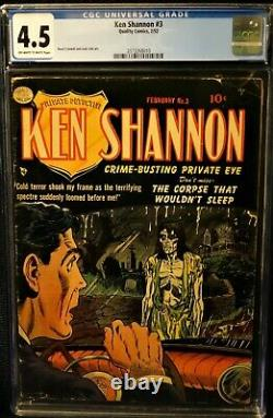 Ken Shannon 3 Excellent Precode Horror Cover, Nice Comic Cgc 4.5
