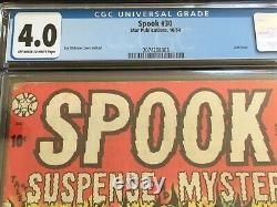 SPOOK #30 CGC 4.0 OW-W 1954 Precode Horror Jay Disbrow LB Cole Nightmare Classic