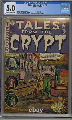 Tales From The Crypt #25 Cgc 5.0 Ec Comic Pre Code Horror Feldstein Cover