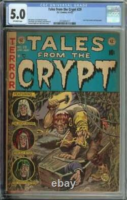 Tales From The Crypt #29 CGC 5.0 EC Pre-Code Coffin Cover Horror Jack Davis