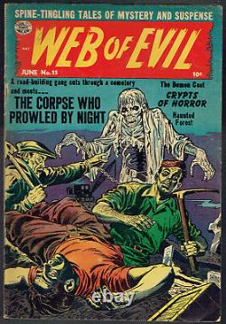 WEB OF EVIL 15 FN+/6.5 Tough to find pre-code horror from 1954