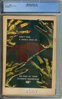 WORLDS OF FEAR #3 CGC 5.5 OWithWH PAGES // GOLDEN AGE PRE CODE HORROR