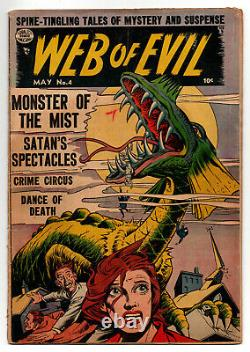 Web Of Evil #4 2.0 Precode Horror Quality Comics 1951 Off-white Pages