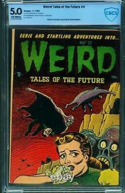Weird Tales Of The Future #4 Cbcs 5.0 1952-basil Wolverton-pre-code Horror