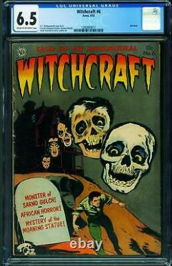 Witchcraft #6 CGC 6.5-LAST ISSUE-Skull cover-Pre-code horror 1282804017