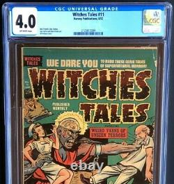 Witches Tales #11 (Harvey 1952) CGC 4.0 OW Rare Pre-Code Horror! PCH