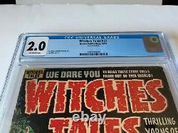 Witches Tales 27 Cgc 2.0 Pre Code Horror Buried Alive Harvey Comics 1954